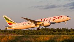 Ethiopian Boeing 787-8 (mikper) Tags: 787 boeing7878 dreamliner moutainnyala ethiopian essa takeoff aircraft wingflex etash aviation eth jet arlanda boeing et arn evening airliner stockholmslän sverige se