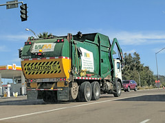 WM Truck 1-24-18 (Photo Nut 2011) Tags: california sanitation wastedisposal trash garbage waste junk refuse garbagetruck trashtruck wm wastemanagement sandiego miramar