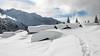 Chalets des Ayères des Pierrières et Mont-Blanc (Monet_P) Tags: hautesavoie france ayeres hiver alpes