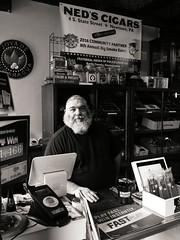 Ned's Cigars (Something Sighted) Tags: streetphotography newtown pennsylvania buckscounty nedscigars blackandwhite noiretblanc