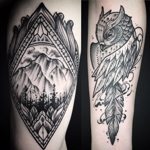 Ayrton sickbird tattoo bird montain