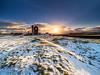 Winter sunset at Magpie Mine (Stephen Elliott Photography) Tags: peakdistrict derbyshire sheldon magpie mine winter sunset snow olympus em1 mkii 714mm kase filters