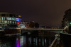 Bridge over river in Ulm (Brian Out and About) Tags: nikon d5200 ulm germany europe nightshots nighttime longexposure lights lighttrails water bridges copyright2018brianblair