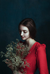 Red (kristina.tsvetkova) Tags: red dress dreamy portrait portraiture portraitphotography porcelain beauty muse beautiful girl model renaissance preraphaelite moody портрет studio studiolight strobelight rembrandt helsinki finland valokuvaaja conceptual painterly