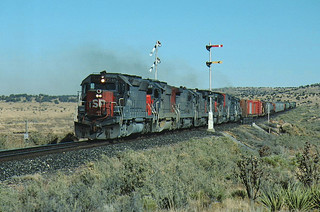 SP 7548 Westbound Freight near Coyote, NM November 5, 1988