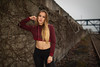 cloudy habor (Michael Kremsler) Tags: model girl blond bellytop leggings longhair portrait fashion streetfashion sporty wall concrete railway habor cloudy strobist bokeh industrial shooting