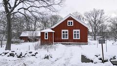 Wooden house at Skansen in Stockholm, Sweden 18/1 2018. (photoola) Tags: stockholm skansen vinter trähus djurgården woodenhouse winter snow photoola