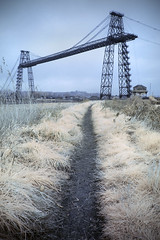 Newport Transporter Bridge (Sean Hartwell Photography) Tags: newport gwent wales industry industrial transporterbridge bridge ir infrared falsecolour