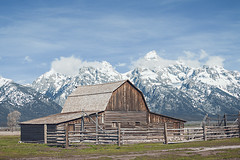 Jackson Hole (J.S. Wolf Photography) Tags: jacksonhole jswolfphotography nature landscape color fineart natural mormonrow wyoming outdoor sky cloud fence grass mountain grandteton barn