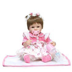 NPK 17inch Reborn Baby Doll Vinyl Handmade Lifelike Neborn Girl Doll Toy (1202752) #Banggood (SuperDeals.BG) Tags: superdeals banggood home garden npk 17inch reborn baby doll vinyl handmade lifelike neborn girl toy 1202752