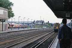 4-BEP 2327 at Eastleigh Station, Sep/Oct 2003 (Ian D Nolan) Tags: railway eastleighstation station emu 35mm epsonperfectionv750scanner