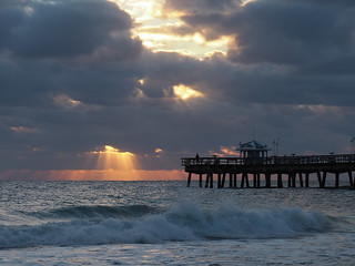 Dawn on the pier at Lauderdale By The Sea
