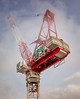 Tower Crane (Jack Landau) Tags: toronto gwl realty tower crane cab counterweight counter weight concrete construction machinery equipment mist clouds sky tall building skyscraper canada jack landau canon 5d mkii