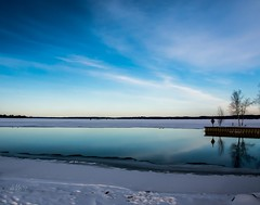 The Torch Lake Sand bar . . . (Dr. Farnsworth) Tags: lake frozen pristine clear sky water reflections ice shanties torchlake mi michigan winter february2018
