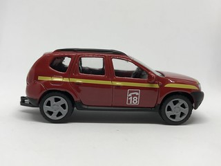 Norev France - Number 319151 - Dacia Duster - Sapeurs Pompiers / Fire Service - Miniature Diecast Metal Scale Model Emergency Services Vehicle