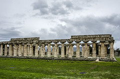 Temple of Hera (firstfire53) Tags: europe italy ruins roman greek templeofhera posidonia paestum