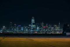 atlantic avenue skyline (pbo31) Tags: bayarea california nikon d810 color february winter 2018 boury pbo31 alameda eastbay alamedacounty island night dark black sanfrancisco skyline salesforce 181fremont city urban baybridge bridge 80 nas alamedanavalstation runway closed navy 07 airport aviation control towertower blue brown transamerica