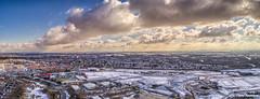 Prescot snow panoramic (Steve Samosa Photography) Tags: prescot panoramic snowscape aerial england unitedkingdom gb aerialview dronecamera drone droneshot droneview winter winterscene