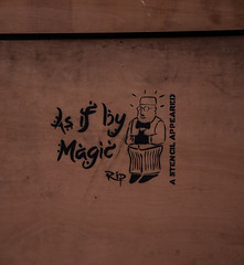 As if by Magic (PDKImages) Tags: stencil shopkeeper asifbymagic ripartist manchester manchesterstreetart urbanart streets
