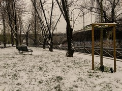 L'angolino. Naviglio Martesana. Milano (diegoavanzi) Tags: milano milan italia italy lombardia lombardy neve snow marzo march sony hx300 bridge naviglio martesana canal naviglilombardi