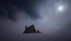 Dolomitas Passo Giau (Pablo RG) Tags: dolomitas montañas noche nightphotography moon paisaje landscape stars nieve winter dolomiti night