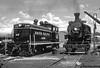 Black & White in Black & White (jamesbelmont) Tags: railway unionpacific deercreekscenicrailroad hebercity heber utah shop watertower emc nw2 baldwin 280