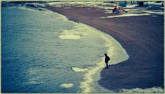 Meditation (GlebLv) Tags: man meditation winter thinking water river volhov deserted sony a6000 sel2870