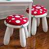 Amanita Muscaria Stool Cushion (Heath & the B.L.T. boys) Tags: mushroom fungus toadstool ikea stool polkadots white red