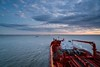 Evening Front (hp181san) Tags: seascape sunset clouds blue orange tanker ship maritime nautical sonya7rii sonyalpha pilot pilotage odfjell bowflora