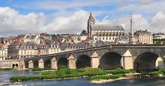 Blois, France (M McBey) Tags: blois loir france cathedral bridge river spire