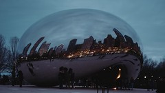 People are Ants (Jovan Jimenez) Tags: peopleareants video timelapes sony alpha a6500 6500 ilce nikon series e 28mm fuji pro 400 seriese eseries f28 400h night chicago thebean bean reflection mirror city skyline clouds motion timelape