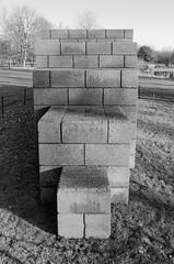 blocks (andyjgordon_) Tags: sol lewitt 123454321 sollewitt123454321 breezeblcoks brick blackandwhite shadows square blocks grain