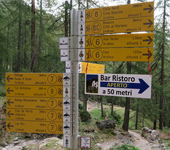 Which way to go? (Jackie & Dennis) Tags: champoluc italy aostavalley sign signpost