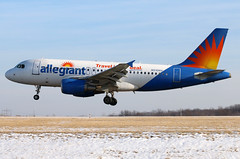 N310NV allegiant A319-112 at KCLE (GeorgeM757) Tags: allegiant a319112 n310nv vqbly aircraft alltypesoftransport aviation airport airbus 6l canon70d kcle clevelandhopkins georgem757 landing