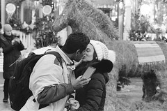 (Maslenitsa). Shrovetide. We'll melt the winter with a hot kiss. (Andrey  B. Barhatov) Tags: moscow russia winter blackandwhite noiretblanc blackandwhiteonly streets streetphoto streetnotes moscowstreet people ru filmtype135 film analog filmfilmforever filmoriginal filmmood filmisnotdead filmphoto filmphotography ilfordhp5400 ilfordhp5 pentaxart pentaxmz7 pentax grain noir dark bnwmood bnwfilm bnw bwfp bw msknoir xtol printbypro barhatovcom noritsuls1100filmscanner россия москва зима город городскиезаметки фотопленка пленка чб чернобелое люди лица наблюдатель настроение observer kiss love maslenitsa shrovetide