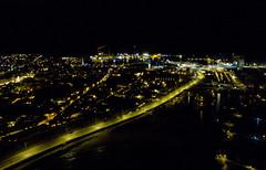 rønne city 2 (fotobirk) Tags: dji djiphantom3 drone quadcopter seenfromabove aerial phantom phantom3standard night city