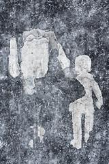 A Cold Day In HEL (pni) Tags: ice sign surface paint pavement human figure people gestalt man child kid girl pedestrianspaintedonpavement helsinki helsingfors finland suomi pekkanikrus skrubu pni