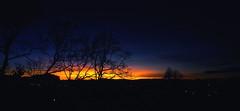 Turn off the lights ) (Natalia Medd) Tags: sunset colour trees blue orange silhouette landscape panorama dark night evening