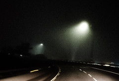 our departures (helm of deafhorse) Tags: photography lampposts fog foggy freeway road night time dark cold samsunggalaxys7edge samsung