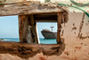 Through the square window (Dan Elms Photography) Tags: telamon thetelamon wreck shipwreck lanzarote spain arrecife wrecked sea coast coastal sun hot holiday