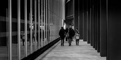 Bridge-Bound (Sean Batten) Tags: london england unitedkingdom gb londonbridge alley people candid nikon d800 70200 blackandwhite bw city urban glass window reflection streetphotography street