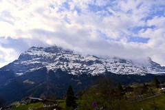 wonderful place. (Noel Vince) Tags: mountains wonderful beautiful nature green clouds sky travel hues hight love switzerland europe trees houses flower colors