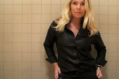 (vujo1017) Tags: leather shirt black woman women lady outfit leder hemd cuir pelle camica