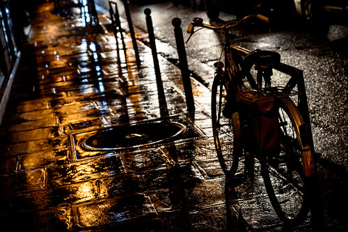 A night bike ride?