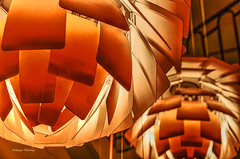 ceiling lights-1 (albyn.davis) Tags: paris france europe modern contemporary lamps lights interior indoor design color orange bright vivid vibrant museum monnaie