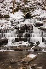 Fulling Mill Falls (sniggie) Tags: kentucky mercercounty pleasanthill shakercreek ice snow winter waterfall cascade silky water creek