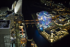 (Nose in a book) Tags: holiday japan yokohama landmarktower cosmoworld cosmoclock ferriswheel