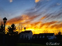 Sunset from my front door last night. (Edale614) Tags: sunset columbus ohio colorful colorfest nature neighborhood trees urban