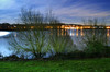 Man Made Lake (Beardy Vulcan) Tags: england winter january 2017 miltonkeynes buckinghamshire manmade man lake night