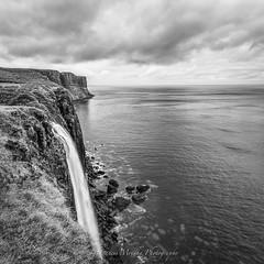 'Kilt Rock' (Francis Mridha) Tags: kiltrock isleofskye sky water waterfall blackwhite uk scotland scottishlandscape landscape westcoast